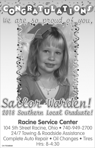 Congratulations Sailor Warden