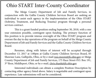 Ohio START Inter-County Coordinator