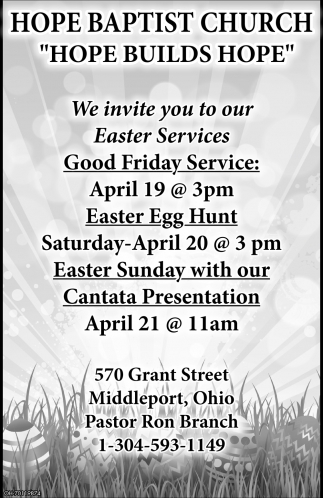 We invite you to our Easter Services