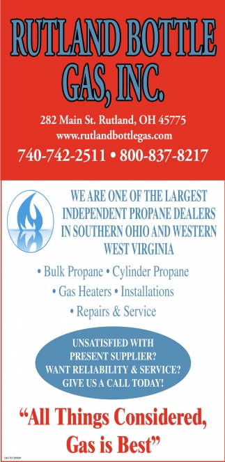 We are one of the largest independent propane dealers in Southern Ohio and Western West Virginia