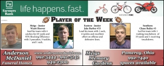 Players of the week - Wyatt Hoover, Jake Barber, Chase Bailey