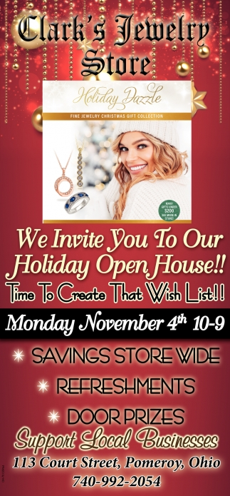 Holiday Open House - Novermber 4th
