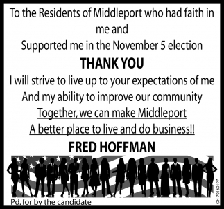 Thank you to the Residents of Middleport