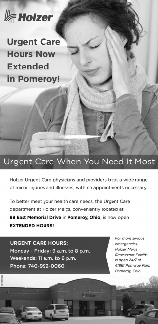 Urgent Care Hours Now Extended in Pomeroy!