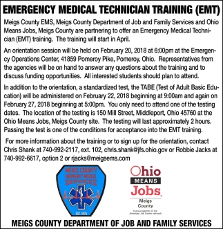 Emergency Medical Technician Training (EMT)